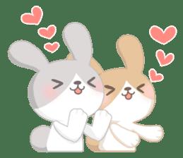 Good friend rabbit. sticker #4281489