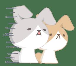 Good friend rabbit. sticker #4281491