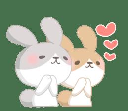 Good friend rabbit. sticker #4281493
