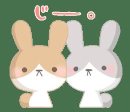 Good friend rabbit. sticker #4281494