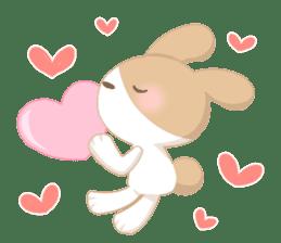 Good friend rabbit. sticker #4281495