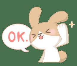 Good friend rabbit. sticker #4281497