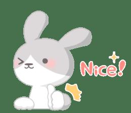 Good friend rabbit. sticker #4281498