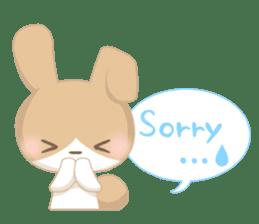 Good friend rabbit. sticker #4281501