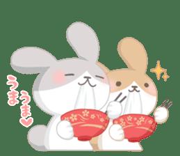 Good friend rabbit. sticker #4281508