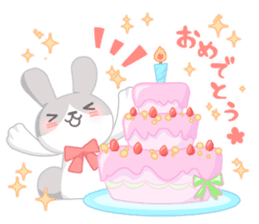 Good friend rabbit. sticker #4281510
