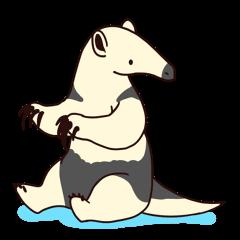 Sticker of anteater.