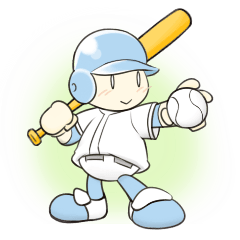 Super baseball hero -'Mr. Round Head'-