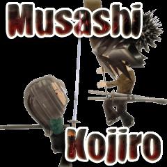Samurai 3D sticker(English ver)