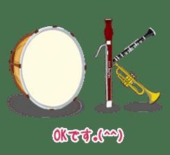 Wind & instruments love sticker #4310344