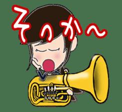 Wind & instruments love sticker #4310350