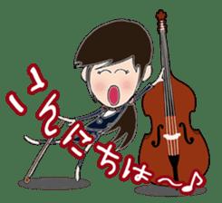 Wind & instruments love sticker #4310365