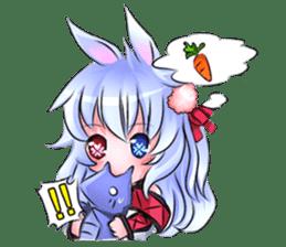 Little rabbit & her dragon friend. sticker #4320395
