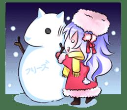Little rabbit & her dragon friend. sticker #4320421