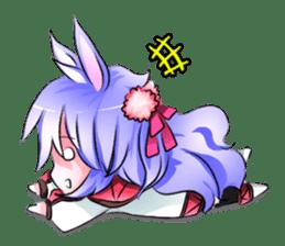 Little rabbit & her dragon friend. sticker #4320423