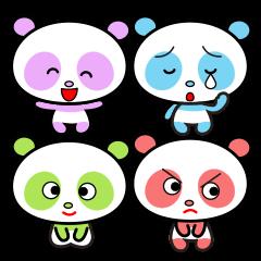 Four feelings of the panda.
