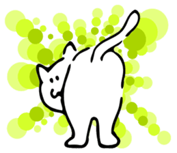 Dance of a cat sticker #4324149