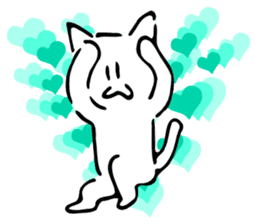 Dance of a cat sticker #4324155