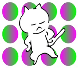 Dance of a cat sticker #4324182