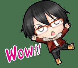 Devilkin glasses boy sticker #4326918