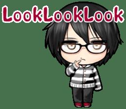 Devilkin glasses boy sticker #4326932