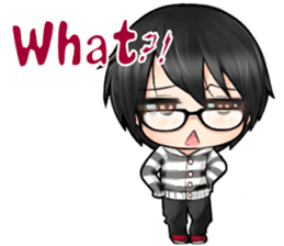 Devilkin glasses boy sticker #4326937