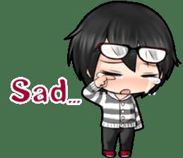 Devilkin glasses boy sticker #4326942