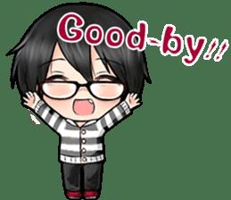 Devilkin glasses boy sticker #4326951