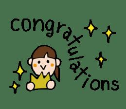Stickers of congratulation. sticker #4328635