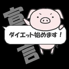 Piggy on a diet