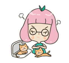 Hugjung & Twin cats sticker #4351607