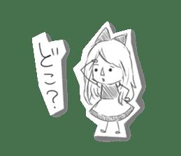 Alice in Sketch land sticker #4368904