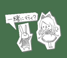 Alice in Sketch land sticker #4368912