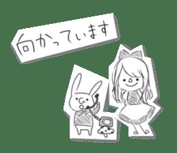 Alice in Sketch land sticker #4368914