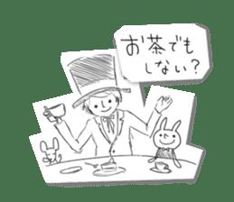 Alice in Sketch land sticker #4368916