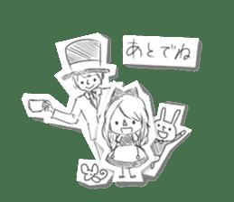 Alice in Sketch land sticker #4368919