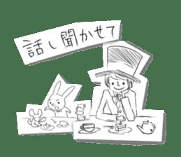Alice in Sketch land sticker #4368920