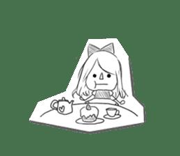 Alice in Sketch land sticker #4368922