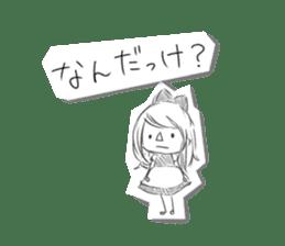 Alice in Sketch land sticker #4368924