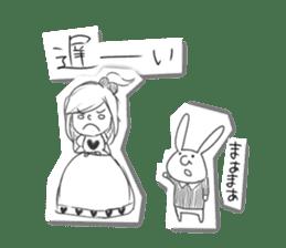 Alice in Sketch land sticker #4368926