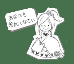 Alice in Sketch land sticker #4368929