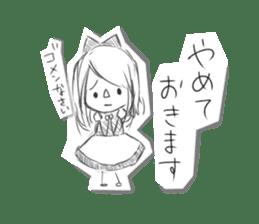 Alice in Sketch land sticker #4368930