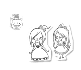 Alice in Sketch land sticker #4368934