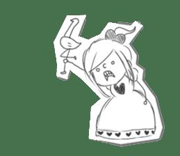 Alice in Sketch land sticker #4368938