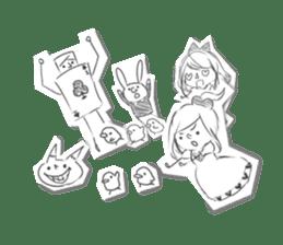 Alice in Sketch land sticker #4368941