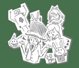 Alice in Sketch land sticker #4368942