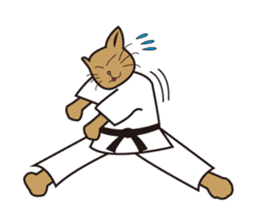 "Karate neko""Gon"" sticker #4369069"
