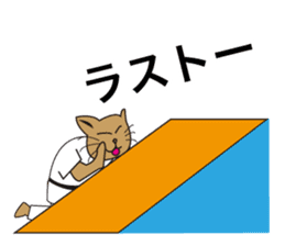 "Karate neko""Gon"" sticker #4369070"