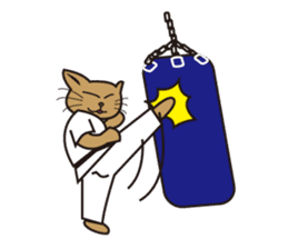 "Karate neko""Gon"" sticker #4369071"