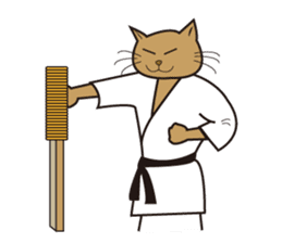 "Karate neko""Gon"" sticker #4369092"